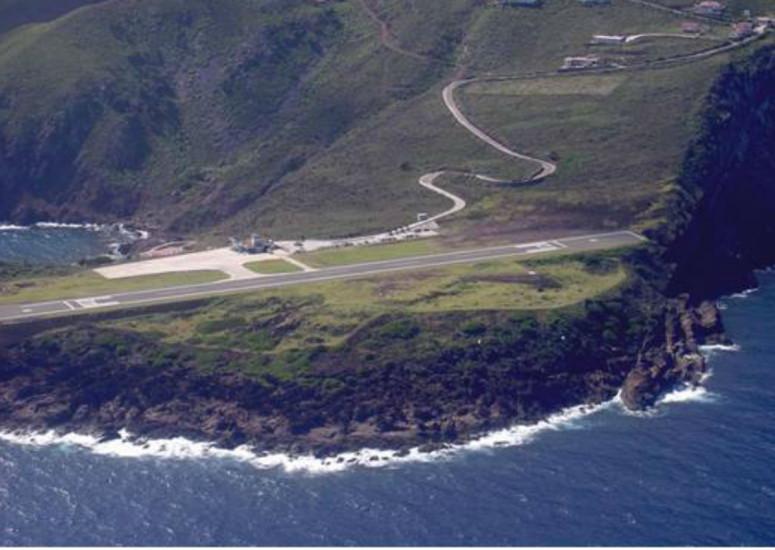 Saba airport hoofd foto